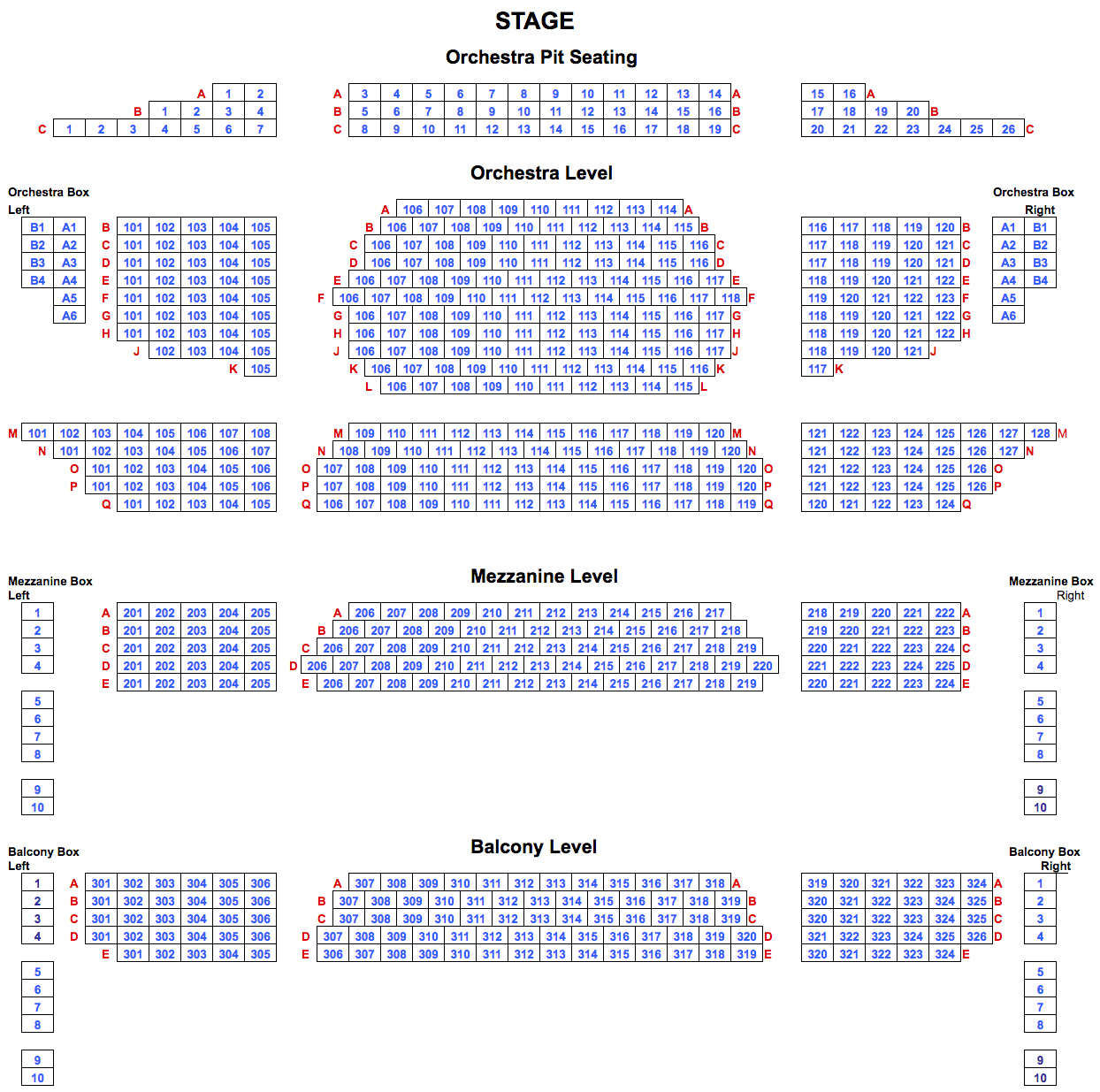 Sunoco Performance Theater At Whitaker Center Black Box Theatre Diagram Ucf Seating Charts Chart